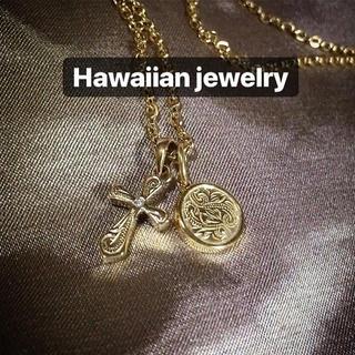 ハワイアンジュエリー ネックレス クロス メダル コイン メンズ レディース(ネックレス)