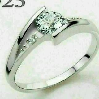 ☞【4号】★AAA級Czダイヤ銀925(リング(指輪))