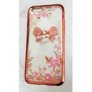 キラキラ リボン リング付き iPhone 6/6s ケース アイフォン (iPhoneケース)