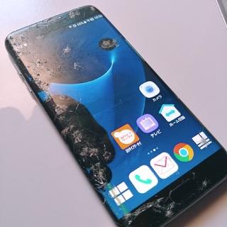 サムスン(SAMSUNG)のGALAXY s7 edge SIMフリードコモ ジャンク 液晶不良(スマートフォン本体)