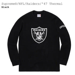 シュプリーム(Supreme)の【黒L】Supreme®/Raiders®/'47 Thermal(スウェット)