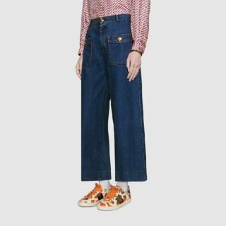 グッチ(Gucci)のGucci グッチ 布靴 本革 レディース 美品 35 (ブーツ)