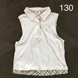 ダックス(DAKS)の130 DAKS ノースリーブポロシャツ(Tシャツ/カットソー)