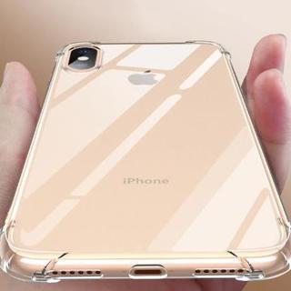 iphone Xs MAX クリア ラバー シリコン ケース ショック軽減ケース(iPhoneケース)