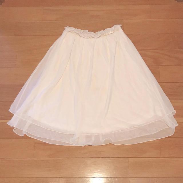 GU(ジーユー)のレースチュールスカート キッズ/ベビー/マタニティのキッズ服 女の子用(90cm~)(スカート)の商品写真