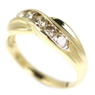 ミキモト(MIKIMOTO)のリング 指輪 K18YG ダイヤモンド リング D0.56ct(リング(指輪))