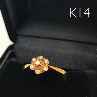 K14リング ダイヤ付き  サイズ11号(リング(指輪))