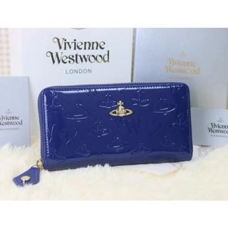 ヴィヴィアンウエストウッド(Vivienne Westwood)のヴィヴィアンウエストウッド 長財布 エナメル ブルー(財布)
