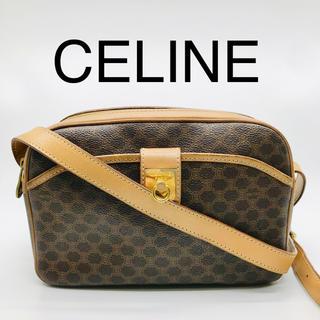 セリーヌ(celine)の美品 VINTAGE CELINE セリーヌ ロゴサークル金具 ショルダーバッグ(ショルダーバッグ)