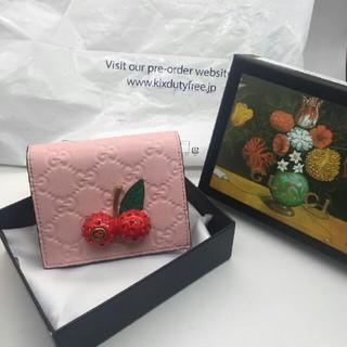 グッチ(Gucci)のGUCCI チェリー ミニ財布 流行!(財布)