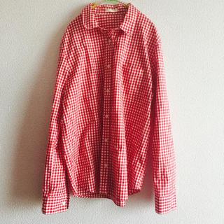 ジーユー(GU)のGU 赤 ギンガムチェック シャツ ♡(シャツ/ブラウス(長袖/七分))