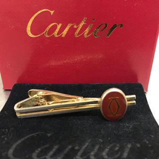 カルティエ(Cartier)のカルティエ ネクタイピン タイピン タイバー レッド Cロゴ(ネクタイピン)