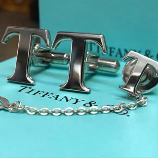 ティファニー(Tiffany & Co.)のティファニー 限定品 Tロゴ カフス カフリンクス タイピン ネクタイピン(ネクタイピン)