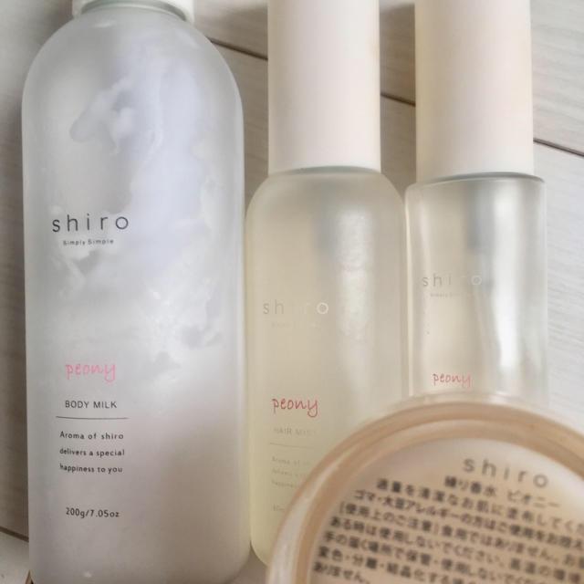 shiro(シロ)のShiro シロ ピオニー 練り香水 オードパルファン ボディミルク ヘアミスト コスメ/美容の香水(香水(女性用))の商品写真