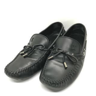 ルイヴィトン(LOUIS VUITTON)の⭐︎セール⭐︎ ルイヴィトン 靴 黒 レザー ドライビングシューズ シューズ(ローファー/革靴)