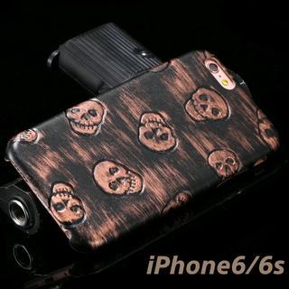 iPhone6 iPhone6s ドクロ スカル ブロンズ ソフトケース(iPhoneケース)