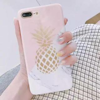 iPhone7 iPhone8 大理石 パイナップル ボタニカル ソフトケース(iPhoneケース)