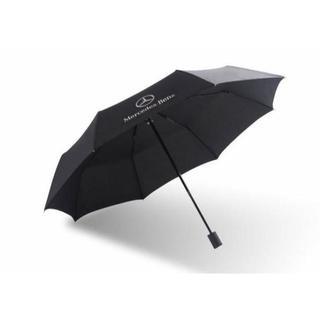 ③BENZ高品質☆紳士用/折りたたみ傘/黒(非売品)アンブレラ/新品(車内アクセサリ)