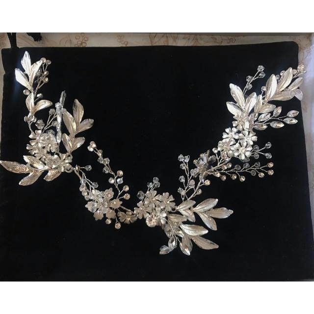 SweetRibbon  スイートリボン ヘッドドレス ハンドメイドのウェディング(ヘッドドレス/ドレス)の商品写真