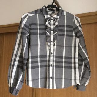 バーバリー(BURBERRY)のバーバリー ガールズ コットンシャツ 150(ブラウス)