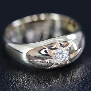 K18 後光 ダイヤモンド リング ホールマーク有(リング(指輪))