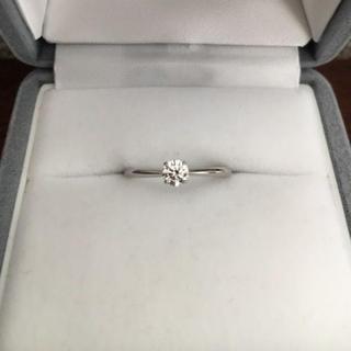 ニワカ(俄)の俄 ダイヤモンド リング Pt950 0.20ct F VVS-1 3EX(リング(指輪))