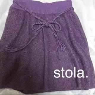 ストラ(Stola.)のストラ モヘアのニットスカート(ひざ丈スカート)