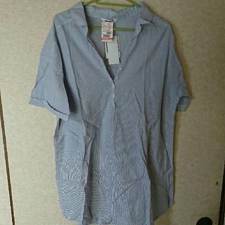 しまむら - 大きい服 半袖 チュニック  3L