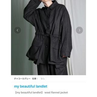 ハレ(HARE)のwool flannel jacket(ブルゾン)