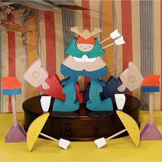 BorneLund(ボーネルンド)の小黒三郎 五月人形 組木 キッズ/ベビー/マタニティのメモリアル/セレモニー用品(その他)の商品写真