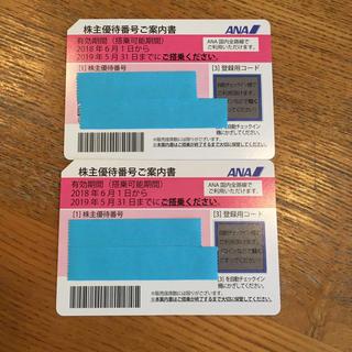 エーエヌエー(ゼンニッポンクウユ)(ANA(全日本空輸))の【SOLD!】ANA 株主優待券 2019/5/31(航空券)