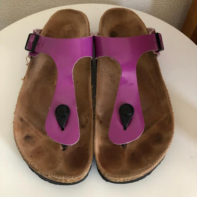 BIRKENSTOCK(ビルケンシュトック)のビルケンシュトック サンダル ピンク 40 26cm 中古 古着 レディースの靴/シューズ(サンダル)の商品写真