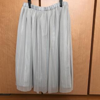 シネマクラブ(CINEMA CLUB)のチュールスカート グレー(ひざ丈スカート)