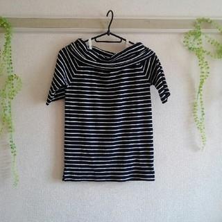 オフショルダー ボーダーTシャツ(その他)