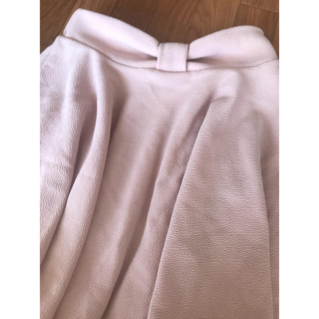 ByeBye(バイバイ)のフレアスカート バイバイ ピンク リボン ミニスカート レディースのスカート(ミニスカート)の商品写真