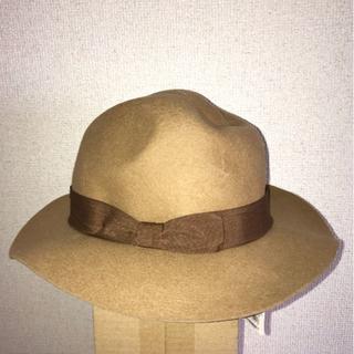 サマンサモスモス(SM2)のベージュ フリーサイズ 帽子 ハット(ハット)