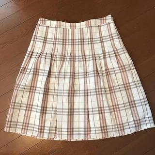バーバリー(BURBERRY)の美品バーバリー ロンドン 定番チェック柄スカート サイズ46(ひざ丈スカート)