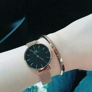 ダニエルウェリントン(Daniel Wellington)の再入荷【32mm】ローズゴールド ダニエルウェリントン 腕時計とバングル セット(腕時計)