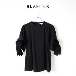 ドゥロワー(Drawer)の新品 BLAMINK ブラミンク コットンクルーネック パフスリーブプルオーバー(カットソー(半袖/袖なし))