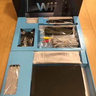 Wii - 【任天堂純正品】Wii 本体 (ブラック)一式セット