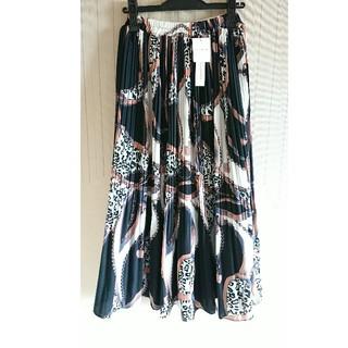 ザラ(ZARA)の未使用限定価格レオパード柄スカーフロングスカート(ロングスカート)