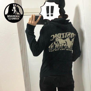 HYSTERIC GLAMOUR - 【Hysteric Glamour】ガールプリント ジップアップニットパーカー