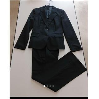アオキ(AOKI)の《美品》パンツスーツ ブラック 9号(スーツ)