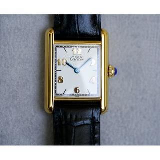 カルティエ(Cartier)の美品 カルティエ マスト タンク ゴールドアラビア SM Cartier(腕時計)
