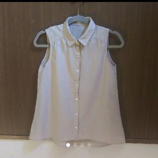 ジーユー(GU)のGU  ジーユー  ノースリーブ リネンシャツ (シャツ/ブラウス(半袖/袖なし))