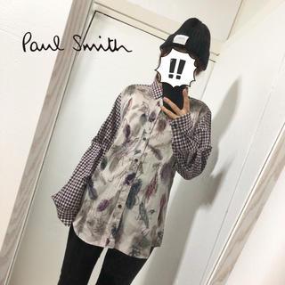 ポールスミス(Paul Smith)の【Paul Smith】マルチルアー& ギンガムチェック 総柄シャツ XL(シャツ/ブラウス(長袖/七分))