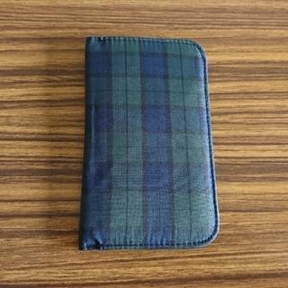 ムジルシリョウヒン(MUJI (無印良品))のカードケース ネイビー タータンチェック(その他)