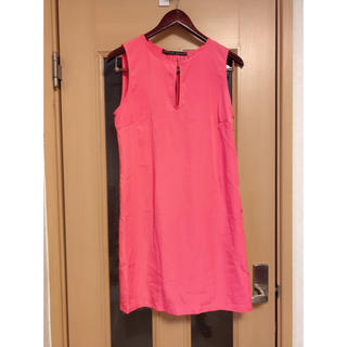 ザラ(ZARA)のワンピース ピンク スカート ドレス 結婚式 新品 未使用(ひざ丈ワンピース)