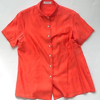 ニューヨーカー(NEWYORKER)のニューヨーカー 半袖シャツ 鮮やかオレンジカラー(シャツ/ブラウス(半袖/袖なし))