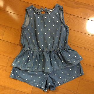 サンカンシオン(3can4on)の3can4on♡ドット柄セットアップ130サイズ(Tシャツ/カットソー)